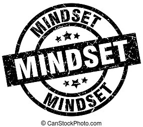 mindset round grunge black stamp