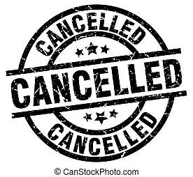 cancelled round grunge black stamp