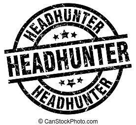headhunter round grunge black stamp
