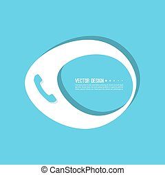 Handset banner blank template. Phone sign icon. Empty vector...