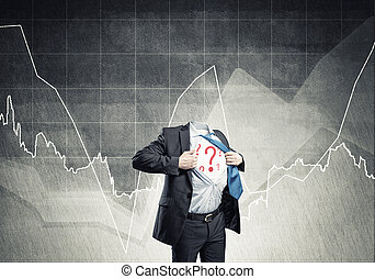 Headless super businessman - Headless businessman in black...