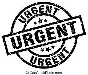 urgent round grunge black stamp