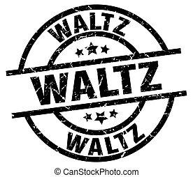 waltz round grunge black stamp