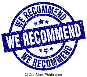 we recommend blue round grunge stamp