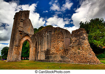 Abbey - Glastonbury Abbey in Great Britain