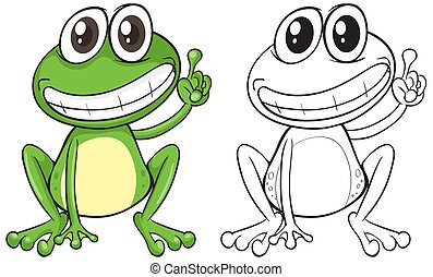 Animal outline for funny frog