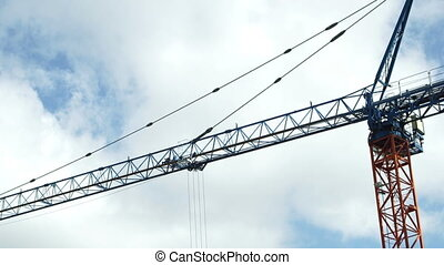 Industrial Tower Crane Jib and Trolly Fast Clouds - An...