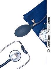 Stethoscope and sphygmomanometer