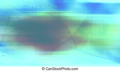 Wire frame and light colors looping background