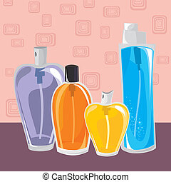 collection of different perfumes - small collection of...