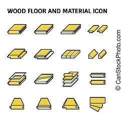 Wood Floor Icon - Wood floor and material vector icon set...