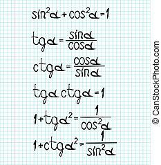 trigonometrical formulas