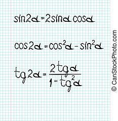 trigonometrical formulas - Illustration of trigonometrical...