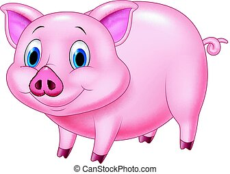 Cartoon pig character