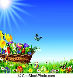 Easter nature holiday background