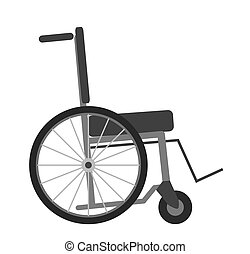 Wheelchair isolated on white background vector illustration....