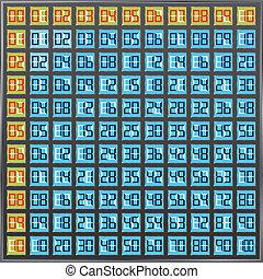 school multiplication table - Illustration of the school...