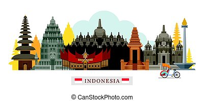 Indonesia Architecture Landmarks Skyline - Cityscape, Travel...