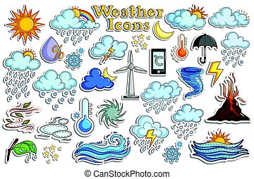Sticker collection for Weather Forecast Icon