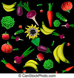 plasticine vegetables background - Made of plasticine...