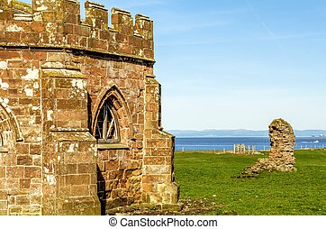 The remains of Cockersand abbey near Lancaster. - The...