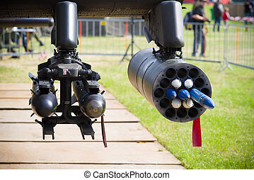 dummy helicopter rockets - dummy rockets under an AH-64...