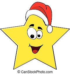 Christmas star - Cartoon illustration of a happy star...