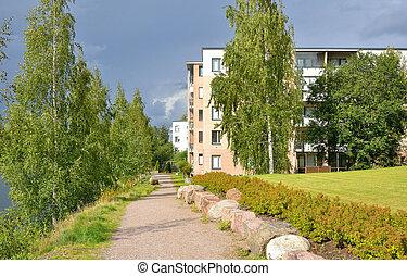 Street in Lappeenranta at ssummer. - Street in Lappeenranta...