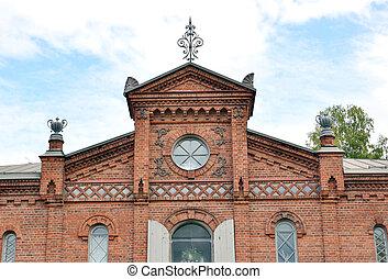 Old building in Lappeenranta at ssummer. - Old brick...