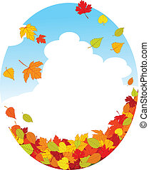 Autumn leaves - Autumn background with falling leaves...