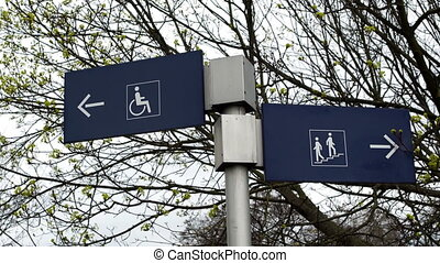 Handicapped and Non Handicapped Directional Signs - Two...