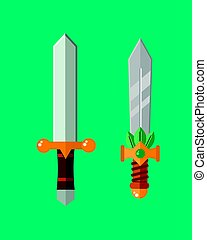 Knife weapon dangerous metallic sword vector illustration of...