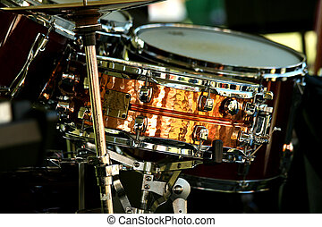 Snare drum - A close up of a Snare drum