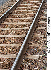 Railroad track - railroad track background