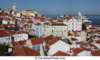 View of Lisbon, Portugal - View of the city in the district...