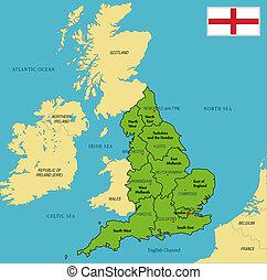 地圖, 英國, 首都, 政治, 地區, 他們