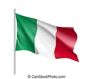 National flag of Italy country. Italian patriotic sign in...