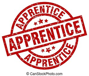 apprentice round red grunge stamp
