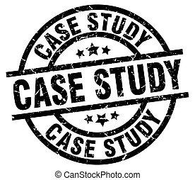 case study round grunge black stamp
