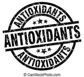 antioxidants round grunge black stamp