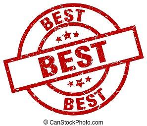 best round red grunge stamp
