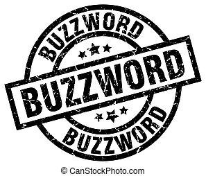 buzzword round grunge black stamp
