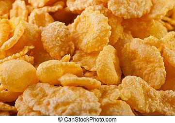 Goldish corn flakes Macro with extremely shallow dof...