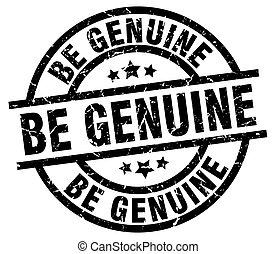 be genuine round grunge black stamp