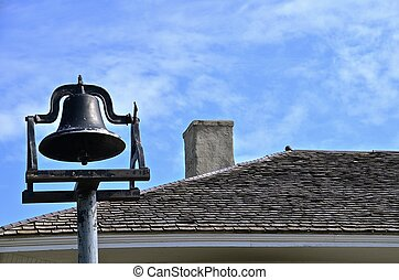 Antique copper school bell - An old functioning copper...