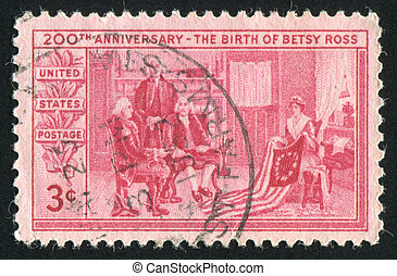 stamp - UNITED STATES - CIRCA 1952: stamp printed by United...
