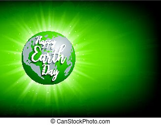 Earth Day banner. Vector lettering illustration
