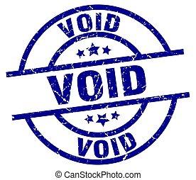 void blue round grunge stamp