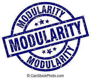 modularity blue round grunge stamp