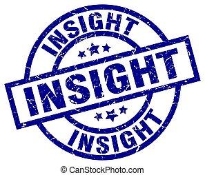 insight blue round grunge stamp